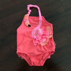 Super Adorable Baby Girl Flamingo Swim Suit